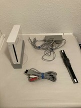 Nintendo Wii White Video Game Console (RVL-001) Bundle - GameCube Compat... - $56.99
