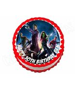 Guardians of the Galaxy Avengers Round Edible Cake Image Cake Topper - $8.98+