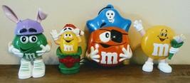 1999 Orange M&M Light Up Pirate Dispenser Set Christmas Easter Flowers P... - $8.97