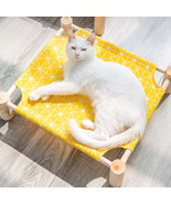 CAWAYI KENNEL Wooden Pet House Dog Bed(Yellow 53x48x13cm) - $43.45