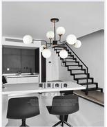 Bistro Globe Milk Glass 8 / 12 Light Chandelier E27 Bulb Home Lighting F... - $427.88+