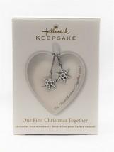 2012 Hallmark Keepsake Ornament First Christmas Together Porcelain Heart... - $3.99