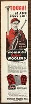 1957 Woolrich Outdoor Woolens Print Ad Handsome Wool Shirts Hunter - $7.82