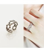 Hand Finished Twisted Open Adjustable Ring Band 925 Sterling Silver Oil ... - $30.84