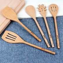 Kitchen Cooking Utensils Wooden Spoons Spatula 5-Piece, Natural and Eco-... - €15,19 EUR