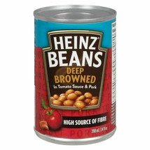12 HEINZ Deep-Browned Beans with Pork & Tomato Sauce 398ml/14oz Canada F... - $49.25