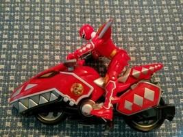 Bandai Power Rangers Dino Thunder Red Raptor Cycle Red Ranger - $14.54