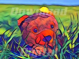 Digital download teddy bear cute plush  kids store Wallpaper Painting Wa... - $5.00