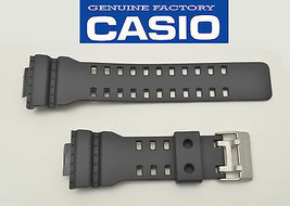 Genuine Casio 22 mm Watch Band Rubber Strap Greyish Black G-Shock GA-11... - $31.45