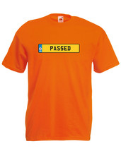 'PAS5ED' Funny Number Plate Car Graphic Design Quality t-shirt tee mens ... - $13.44
