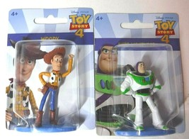 "Disney Toy Story 4 Lot of 2 Woody & Buzz 2"" Mini Figures Figurines Mattel - $10.99"