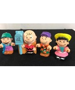 Lot of 4 vintage Peanuts SNOOPY figures Charlie Brown, Lucy 1950-1966  - $22.91