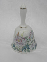 """Vintage """"Impressions"""" White China or Porcelain Bell w/Hummingbird, Pink ... - $9.99"""