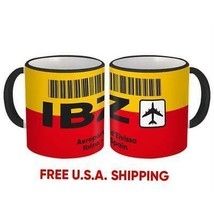 Spain Aeroport d'Eivissa Ibiza IBZ : Mug Travel Airline Pilot Aviation Gift - $13.37+