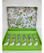 Portmeirion BOTANIC GARDEN Floral / Butterfly Cheese Knife & 6 Spreader ... - $29.99