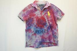 Polo Ralph Lauren Heavy Over-Sized Logo Polo Shirt, Tie-Dye, Men's XL 9092 - $29.12