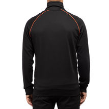 Hugo Boss Men's Sport TrackSuit Zip Up Sweatshirt Jacket & Pants Set Black image 3
