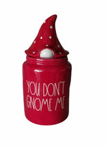 Rae Dunn YOU DON'T GNOME ME Canister Cookie Jar Red Polka Dot Hat Local ... - $49.99