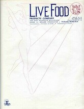 Live Food Products Company Stationery Burbank MUST SEE Bragg Products Nu... - $27.69