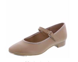 ABT American Ballet Theatre Spotlights Tan Nude Mary Jane Tap Shoe Girls 3 1/2 - $39.59