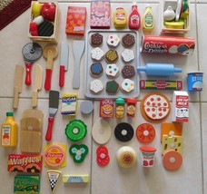 Toy Wooden Play Food Lot 96 Pcs Melissa & Doug + Others Euc (T) - $99.99