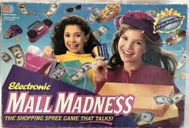 Vintage Electronic Mall Madness Board Game 1996 Shopping Missing 2 Pegs - $68.59