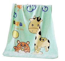 Lovely Giraffe Kids/Baby Sleep Blanket Animal Printed Coral Fleece Blanket - €30,88 EUR