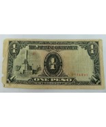 THE JAPANESE GOVERNMENT ONE PESO BANKNOTE CURRENCY PAPER MONEY - $10.00