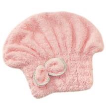 Microfiber Bath Towel Hair Dry Hat Quick Drying Bath Cap For Long Hair(Pink) image 2