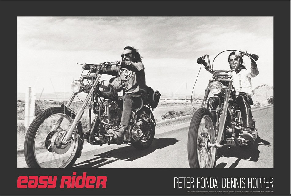 Easy Rider Poster 24 x 36 inches Dennis Hopper Peter Fonda 61 x 90 cm Choppers