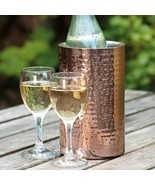 Wine Chiller Elegant Hammered Double Walled Insulated Wine Tub Beverage ... - $43.09