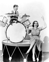 Judy Garland And Mickey Rooney Playing On Drums 16X20 Canvas Giclee - $69.99