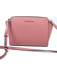 NWT Cute Michael Kors Selma Medium Satchel Classic Rose Pink Gold 35H8GLMM6L - $110.88