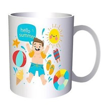 Hello Summer Funny Novelty New Art 11oz Mug c552 - $10.83