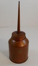 Sears Medium Oil Can Thumb Pump Press Oiler USA Copper Color - $9.89