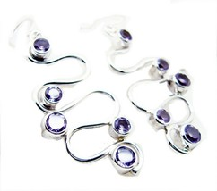 attractive Amethyst 925 Sterling Silver Purple Earring Natural jewelry U... - $28.70