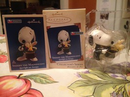 SNOOPY The Magnificent Hallmark Collector's Series Keepsake Ornament Bra... - $12.99