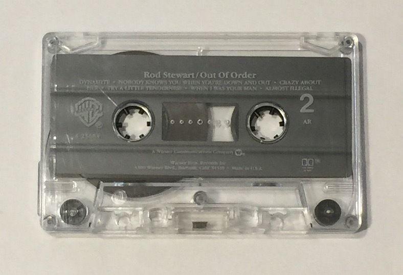 Out of Order by Rod Stewart (Cassette, Oct-1990, Warner Bros.)