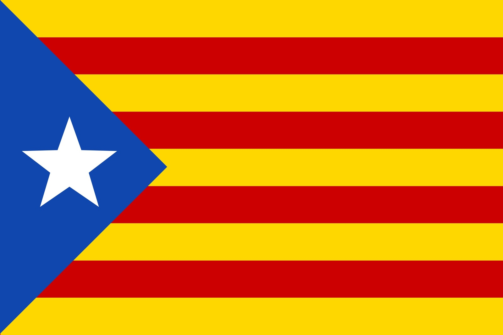Catalan Flag self cling vinyl window sticker 12x8cm L'Estelada Barcelona Spain