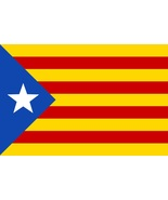 Catalan Flag self cling vinyl window sticker 12x8cm L'Estelada Barcelona... - $4.00