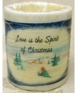 Russ Candle Glows Love is the Spirit of Christmas Hollow Core Candle - $14.83