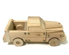 Planet Toys Wooden Truck Assembled 2005 With Screws - $14.36