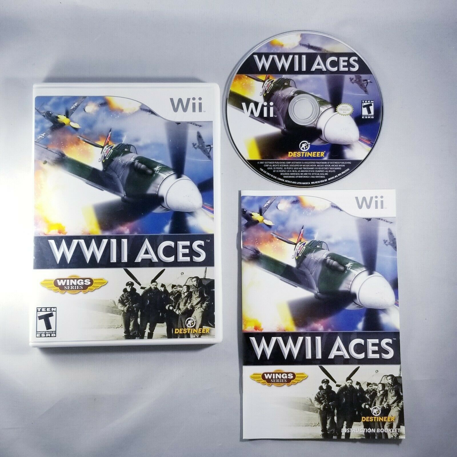 Primary image for WWII Aces (Nintendo Wii, 2008) WW2 Planes - Complete with Manual - Free Shipping