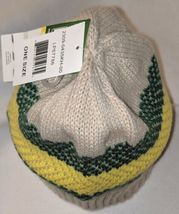 John Deere LP67786 Acrylic Knitted Tan Green And Yellow Beanie image 4