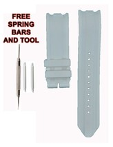 Nautica A16612G 22mm White Rubber Watch Band Strap 206NTC - $28.71