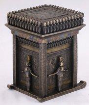 Bronze Egyptian Temple Trinket Box 7819 - $33.99
