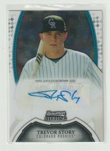 Trevor Story 2011 Bowman Sterling Rookie Autograph #BSP-TS - $22.03