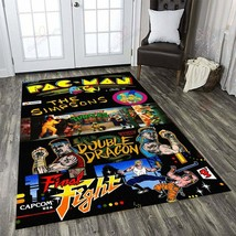 Collection Retro Video Games Rug Pac Man TMNT Turtles Double Dragon Fina... - $40.99+