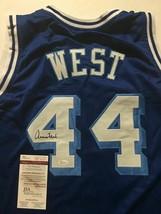 Autographed/Signed JERRY WEST Los Angeles LA Blue Retro Jersey JSA COA Auto - $149.99