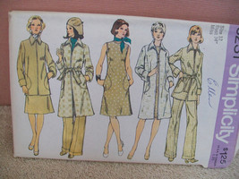 Simplicity 1970s Misses Umlined Topper Top Skirt and Pants Pattern 6222 size 12 - $15.00